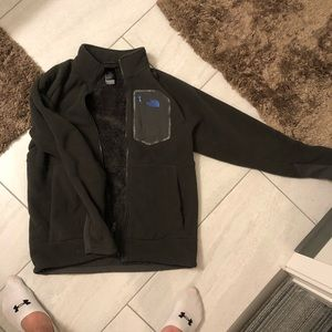 North face fleece and fur coat